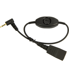 Jabra Quick Disconnect (QD) to 2.5 mm Jack Cord, with answer/end/mute function